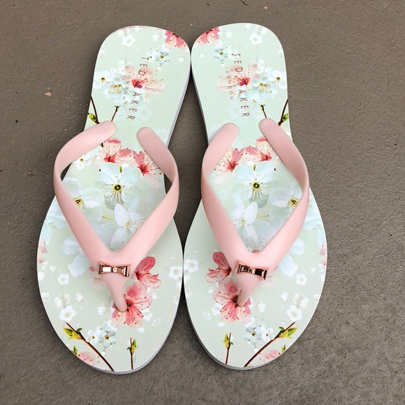 515241bb5 ... Ted Baker cherry blossom flip flops. M 5b215412194dade80fbd864f